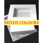 "Market kit 15 sets of A3 windowed, Mixed colours, 50mm borders, 15"" x 20"" outside size"