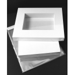 Market kit  10 sets of A3 windowed Ultimate White Mats offset to fit 16x20""