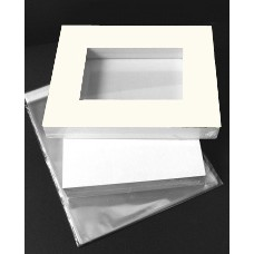 "Market Kit 30 sets of 8"" x 12"" windowed Olde White Mats"